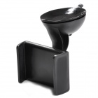 "Universal 2.4""~3.7"" 360 Degree Rotation Plastic Car Mount Holder for Mobile Phone - Black"