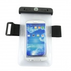 Universal Outdoor Waterproof PVC Bag w/ Compass + Arm Band for IPHONE / Samsung - Black+ Transparent