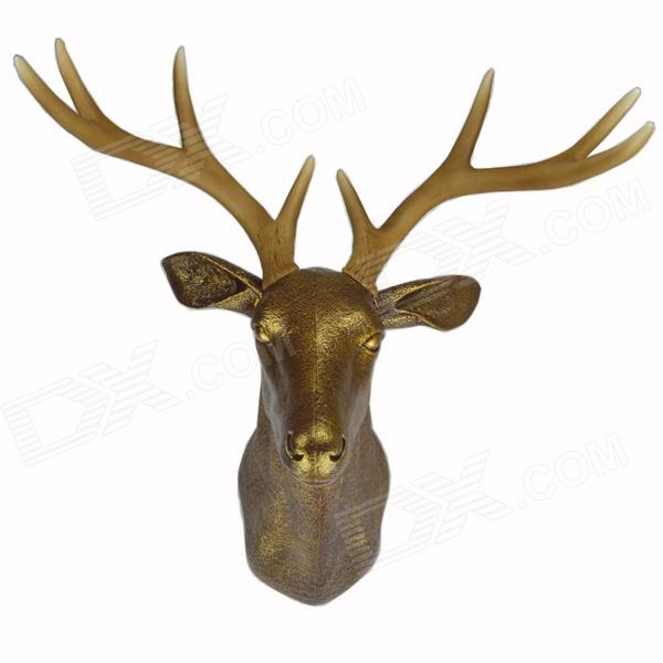 DEE-001 Faux Deer Head Antlers Wall Mount Decoration - Antique gold - Free Shipping - DealExtreme