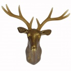 DEE-001 Faux Deer Head Antlers Wall Mount Decoration - Antique gold