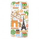 Cute Cartoon Patterned TPU Back Case for HTC One Mini / M4 / 601e - White + Black
