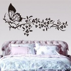 Removable PVC Flying Butterflies Wall Sticker - Multicolored