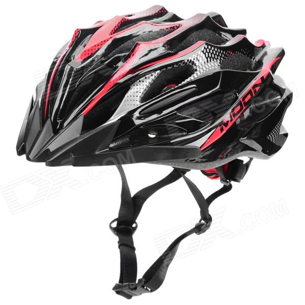 MOON MV37 Outdoor Sports Cycling Bike Helmet - Black + Red
