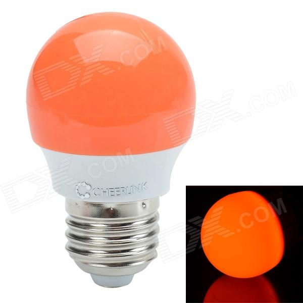 CHEERLINK 2W 200lm 6400K 8-LED Cool White Light Decoration LED - Silver + Orange (220V)