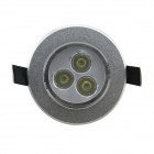 IN-Color YS-3X1W 3W 110lm 6000K 3-LED White Light Champagne Spotlight - (AC 85~265V)