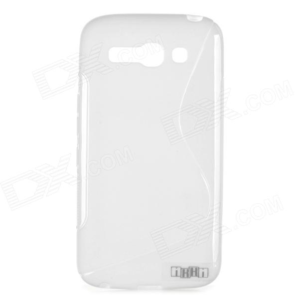 IKKI Anti-slip S Pattern TPU Back Case for Alcatel OneTouch POP C9 / OT-7047D - White мобильный телефон alcatel onetouch 2008g black white