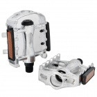 Bicycle Anti-slip Aluminum Alloy Pedals - Silver (2 PCS)