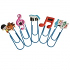 DEDO Stationery MG-15 U Music Bookmark Clips - Multicolored (5 PCS)