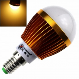 ZHISHUNJIA E14 8W 680lm 3000K 16-SMD 5630 LED Warm White Light Bulb - White + Golden (85~265V)