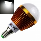 ZHISHUNJIA E14 8W 680lm 6000K 16-SMD 5630 LED White Light Bulb - White + Golden (85~265V)