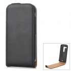 IKKI Classic Flip-open Split Leather Case for Motorola MOTO G / DVX - Black