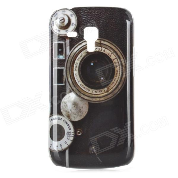 Retro Camera Pattern ABS Back Case for Samsung Galaxy Trend Duos S7562 - Black + Grey replacement back camera circle lens for samsung galaxy s5 g900 black