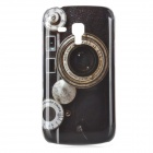 Retro Camera Pattern ABS Back Case for Samsung Galaxy Trend Duos S7562 - Black + Grey