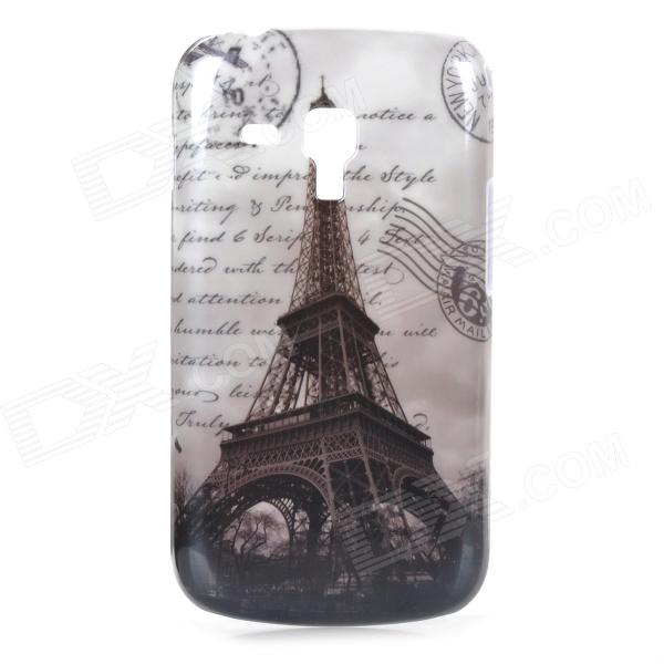 Retro Eiffel Tower Pattern ABS Back Case for Samsung Galaxy Trend Duos S7562 - Black + Grey