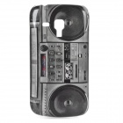 Retro Radio Pattern ABS Back Case for Samsung Galaxy Trend Duos S7562 - Black + Grey