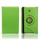 EPGATE 360 Degree Rotation Protective PU Leather Case Cover Stand for ASUS ME175 / ME373 - Green