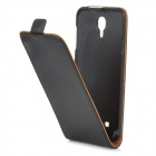 Classic Flip-open Split Leather Case for Samsung Galaxy J / N075T - Black