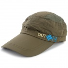 OUTFLY A12026 Spring and Summer Detachable Hat for Men - Army Green (Free Size)