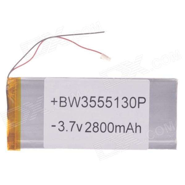 Universal Replacement 3.7V 2600mAh Li-polymer Battery for 7~10 Tablet PC - Sliver (35*55*130) 4165135 4200mah lithium polymer battery pl 3 7v high capacity battery tablet pc