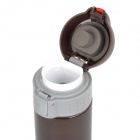 Roswheel 52647 Double Layer Stainless Steel Thermos Bottle Flask - Light Brown + Deep Brown (500mL)