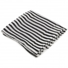Stylish Stripe Pattern Chiffon Beach Sarong - White + Black