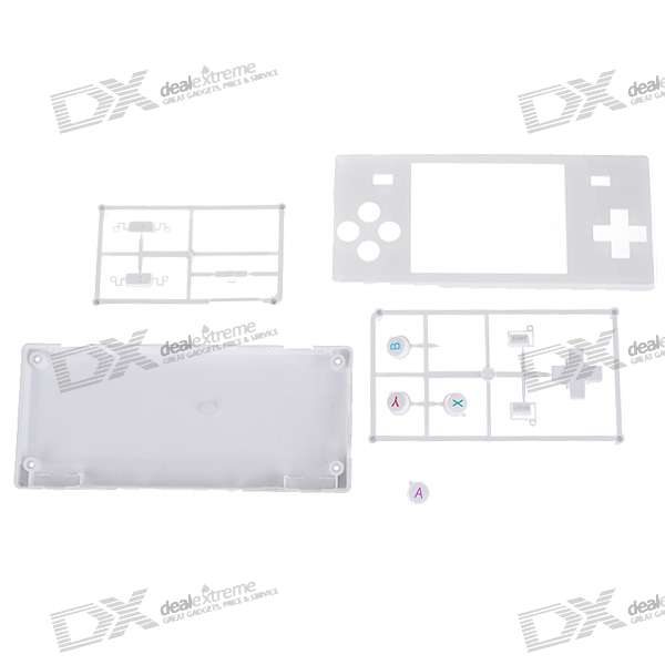 Full Replacement Housing Case with Buttons for Dingoo A-320 (White)