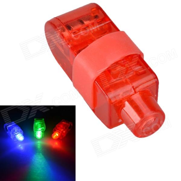 LED Red Flashing Finger Lights Set - Red (5 PCS)
