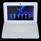 "WM-8880-MID 10.1"" Dual Core Android 4.2 Netbook w/ 512MB RAM, 8GB ROM, Bluetooth, GPS, HDMI - White"