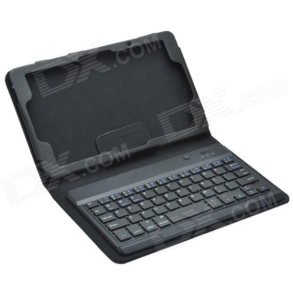 Bluetooth V3.0 Keyboard & Protective PU Leather Case w/ Stand for Lenovo Miix2 8.0 - Black new ru for lenovo u330p u330 russian laptop keyboard with case palmrest touchpad black