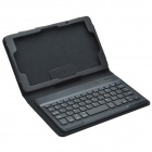Bluetooth V3.0 Keyboard & Protective PU Leather Case w/ Stand for Lenovo Miix2 8.0 - Black