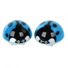 Cute Ladybug Style Air Outlet Mounted Fragrances Ornament for Car - Black + Blue (Fruit Scent)