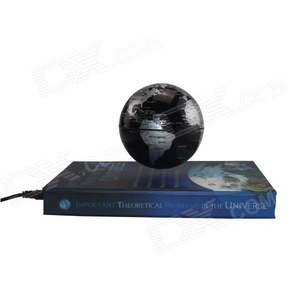TOP-FLIGHT 85mm Book Style Rotation Magnetic Levitation Globe - Black design of globe valve