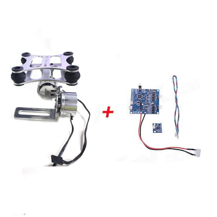 HJ 2-Axis Aluminum Brushless Gimbal PTZ w/ BGC 3.1 Brushless Gimbal Controller / Sensor for FPVOther Accessories for R/C Toys<br>Form ColorSilver + BlueBrandHJModel2-Axis, BGC3.1MaterialAluminum + aluminum alloyQuantity1 DX.PCM.Model.AttributeModel.UnitCompatible ModelCompatiblePacking List1 x Aluminum gimbal with 2 motors1 x BGC 3.1 brushless gimbal controller1 x MPU6050 sensor1 x Connecting cable (30cm)<br>