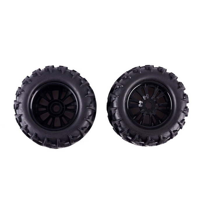 High Quality Hex 17mm Rubber Tire for 1:8 RC Monster / Truck - Black (2 PCS) madmax 1 5 traxxas x maxx wheels tire rc monster truck rim 4pcs and wheel nuts