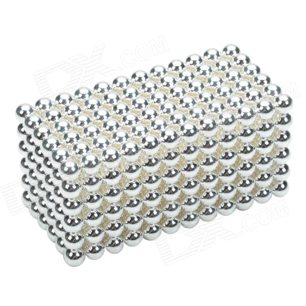 CHEERLINK 5mm DIY Magnet Balls / Neodymium Iron Educational Toys Set - Silver White (432 PCS) cheerlink xb 01 3mm diy magnet balls neodymium iron educational toys set silver white 432 pcs