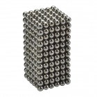 CHEERLINK XB-01 3mm DIY Magnet Balls / Neodymium Iron Educational Toys Set - Silver Black (432 PCS)
