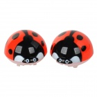 Cute Ladybug Style Air Outlet Mounted Fragrances Ornament for Car - Black + Red (Fruit Scent)