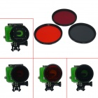 DL Professional 58mm Underwater Color-Correction Red / Orange / Gray Dive Filters for GoPro Hero 3
