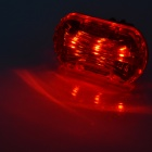 3-Mode LETDOOO FF2 3 LED Red Light Bike Tail Lamp w / Holder - Noir + Rouge (2 x AAA)