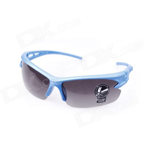 Bicycle Explosion-proof Glasses / Outdoor / Sun Glasses - Black + Blue