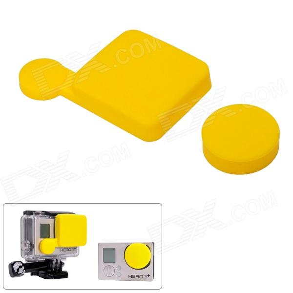 Silicone Protective Lens Cap Set for Gopro Hero 4/ 3+/ 3 Plus - Yellow