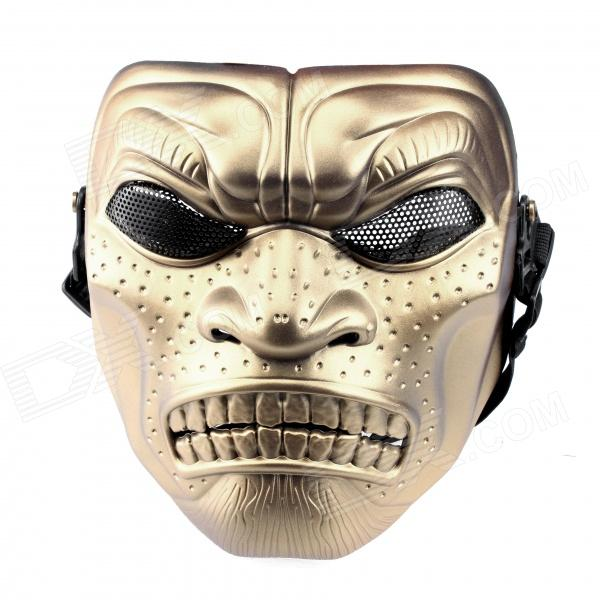 DC-06 CS Full Face Mask Field Mask - Golden tactical skull face mask military field us active duty m50 gas mask cs field skull mask for hunting paintball