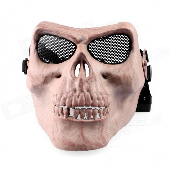 M02 Field CS  Skull Mask / Chieftain Mask - Dark Yellow tactical skull face mask military field us active duty m50 gas mask cs field skull mask for hunting paintball