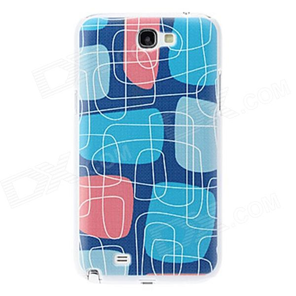 Kinston kst00033 Maze Pattern Plastic Back Case for Samsung Galaxy Note 2 N7100 - Blue + Pink kinston small boy pattern hard case for samsung galaxy note 2 n7100