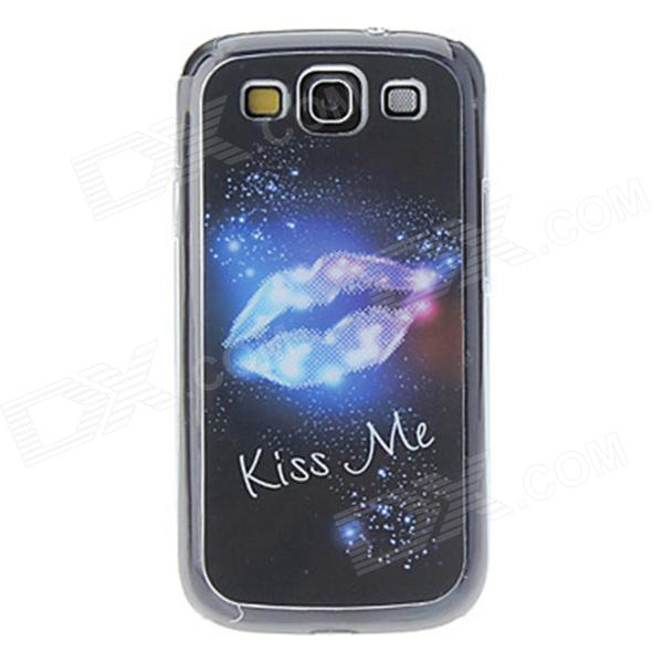 Kinston Lip Pattern LED Light-Emitting Plastic Back Case w/ Caller Flash for Samsung Galaxy S3 i9300 kinston colorful flowers and butterflies pattern plastic protective case for samsung galaxy s3 i9300