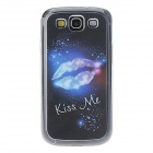 Kinston Lip Pattern LED Light-Emitting Plastic Back Case w/ Caller Flash for Samsung Galaxy S3 i9300
