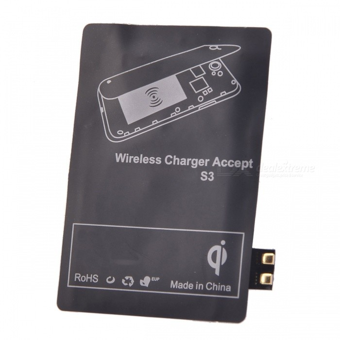 Qi Wireless Charger Receiver for Samsung Galaxy S3 i9300 - Black 5v 1000ma qi wireless charger for samsung galaxy s3 mini i8190 i8160 black