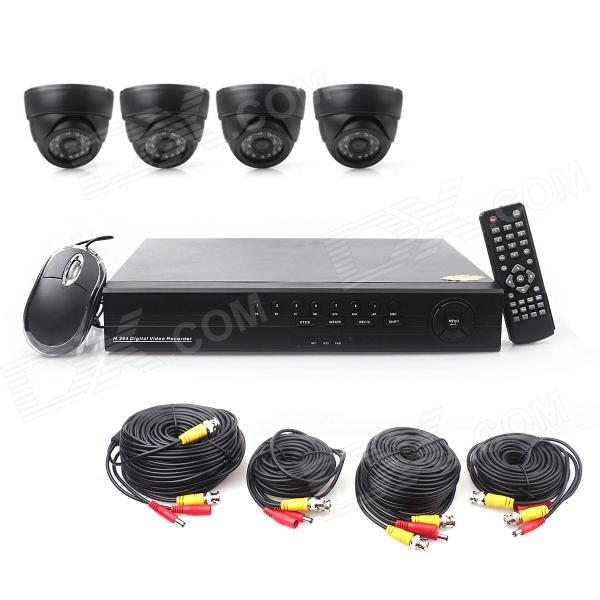 A-P168 Security Monitoring CCTV 4-Channel DVR Set - Black