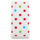 COOMAX C1+ Polka Dot Pattern Mobile 5000mAh USB Power Bank - White