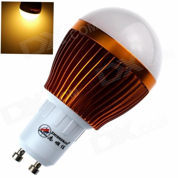 купить ZHISHUNJIA GU10 8W 680lm 3000K 16-SMD 5630 LED Warm White Light Bulb - White + Golden (85~265V) онлайн